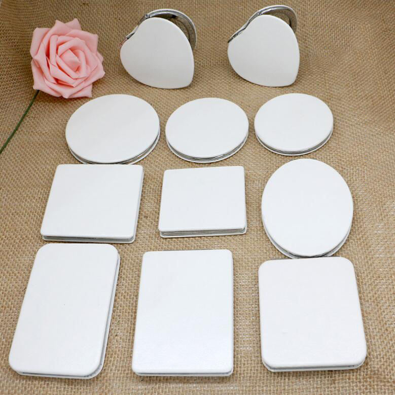 Custom All Shapes Sizes Vanity Espejo Private Label Pocket Mirror/Small White Makeup Mirror/Wooden Pocket Compact Make Up Mirror