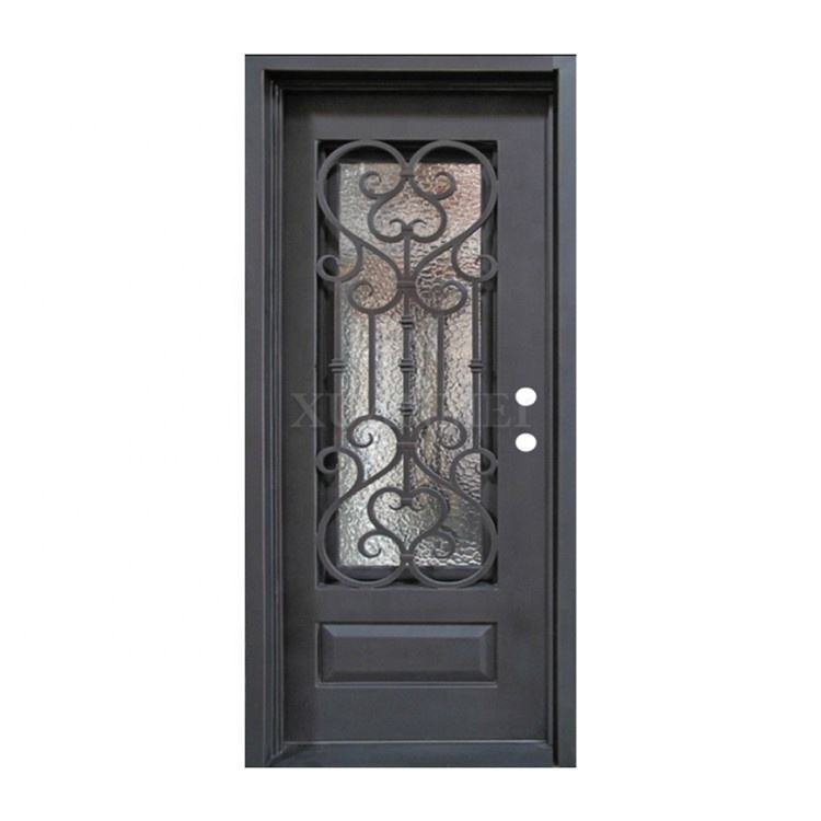 Beautiful iron grill door design main entrance wrought iron single door