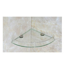 Shower room cheap sanitary ware glass shelf corner glass shelves for bathroom