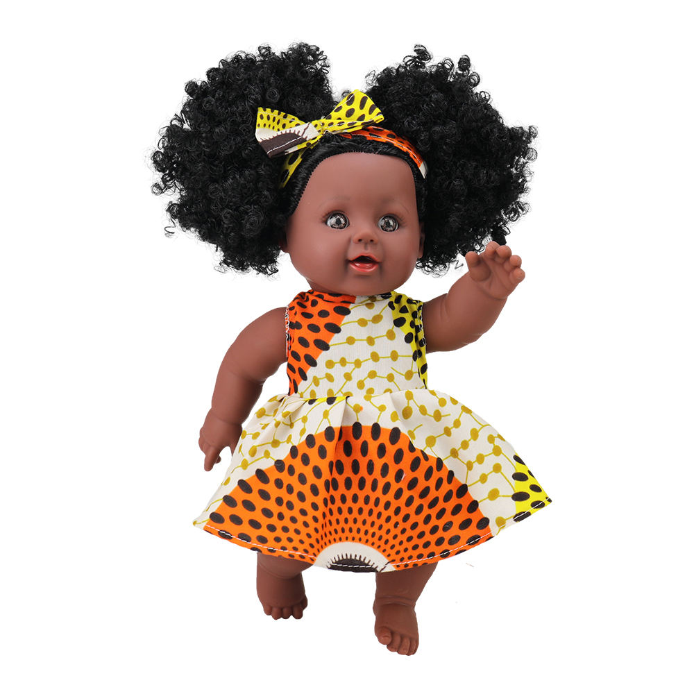 12 inch Toy Baby Black Dolls lifelike african american doll for kids, newest children, Kids Holiday and Birthday gift