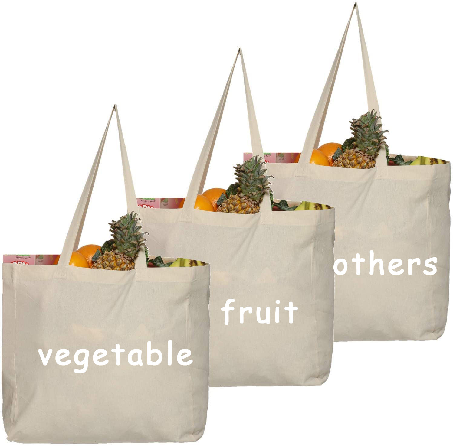 Extra large cotton shopping bag eco vegetable carry bags grocery bag to carry things