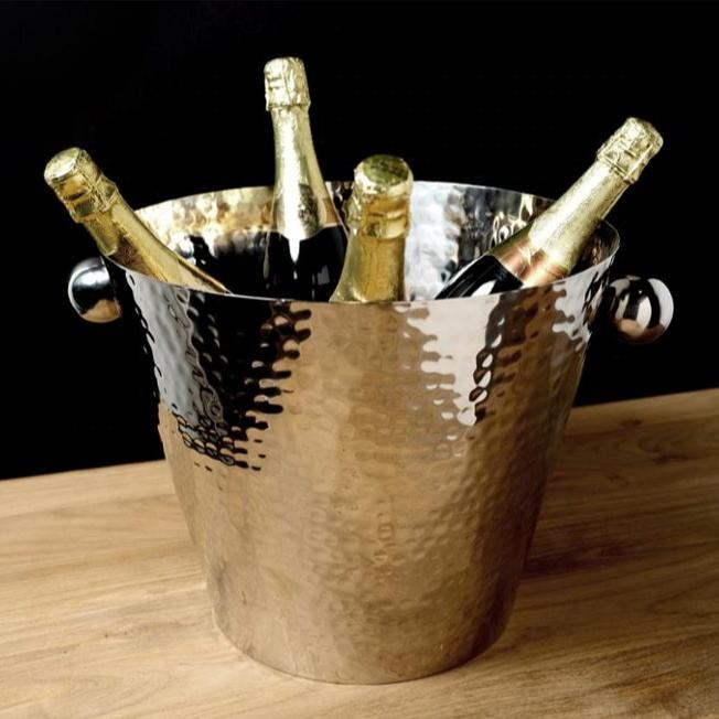 Stainless Steel Hammered Champagne Ice Bucket