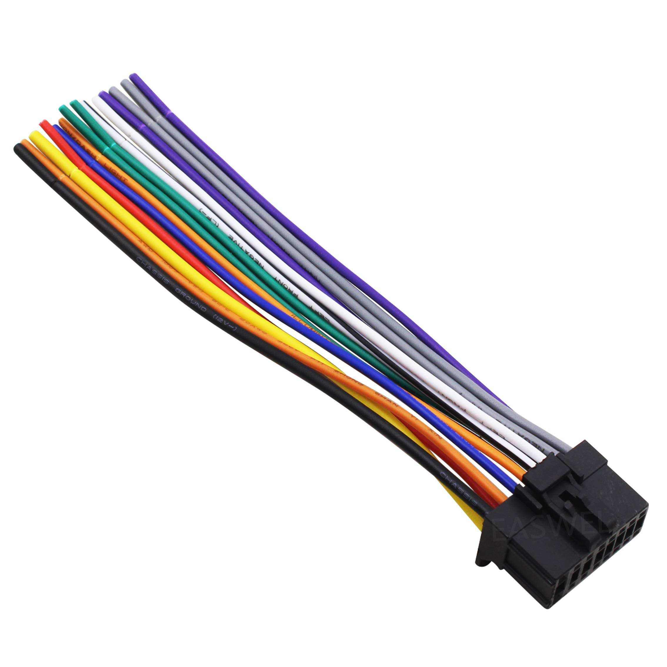 Pioneer DEH-P8400MP Aftermarket Stereo Radio Receiver Replacement Wire Harness