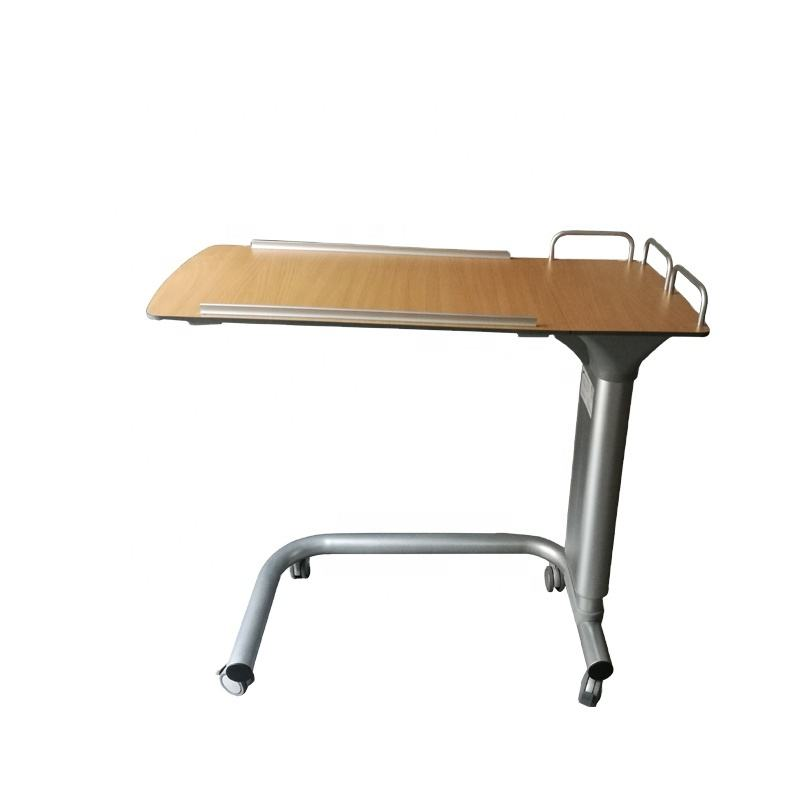 Hospital medical furniture patient movable bedside desk overbed table