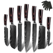 promotional black little cook high quality damascus chef knife