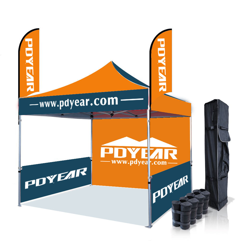 Waterproof [ Tent Party Tents ] Folding Event Tent 3x3 Promotional Folding Custom Print Event Awning Pop Up Tent Display Party Logo Wedding Marquee Gazebo Canopy Trade Show Tents