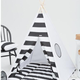Fashion Children Play House Indian Star Camping Wood 4 Poles Cotton Canvas Cloth DIY kids teepee tent B-BA023