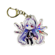 Customized double side print clear acrylic keychain for gift