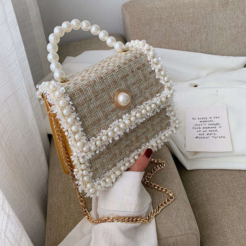 Bag lady large capacity winter versatile texture chain crossbody bag small bag mini web celebrity with the same style of western