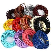 Wholesale 1/1.5/ 2/3/4/5/6mm leather rope supplies multi-color round genuine leather cord for jewelry necklace bracelet making