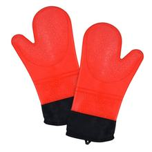 Wholesale Extra Long Pot Holder & Baking Gloves Heat Resistant Cooking Silicone Oven Mitt