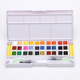Paint Set Plastic Hot Sale 24 Colors Solid Watercolor Cake Watercolor Poster Color Paint Set Plastic White Box With Water Brush Pen