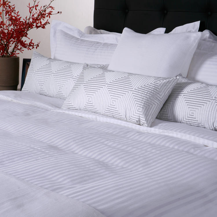 Wholesale 100% Cotton 3Cm Stripe Hotel Fitted Bed Sheet Set Used For 5 Star Hotel Knitted Bed Sheet