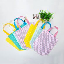 2019 New Foldable Dot Printed Reusable Tote Pouch Women Travel Storage Handbag Eco Female Non Woven Shopping Bags