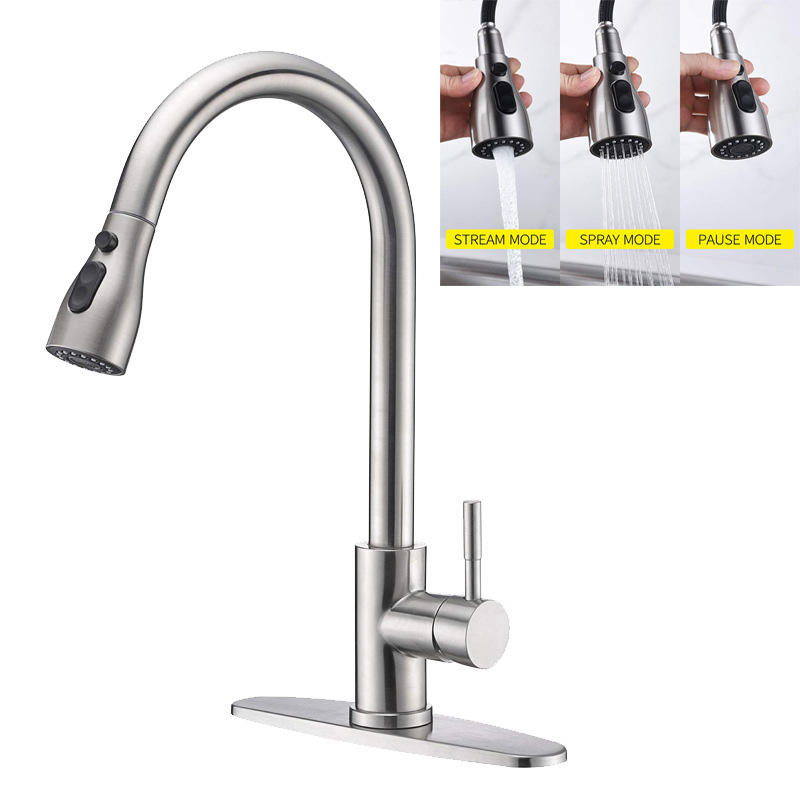 mounted Bathroom basin faucets Kitchen Faucet Spray Stretchable Pull Down Out Kitchen Faucet