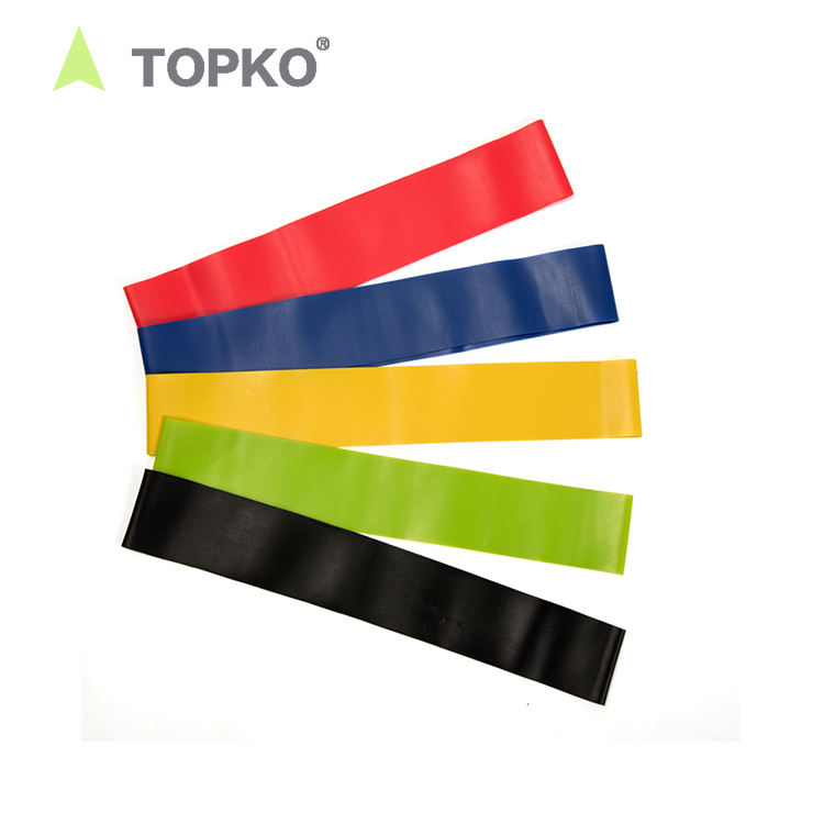 TOPKO custom logo fitness hip circle bands de resistencia exercise latex resistance bands set