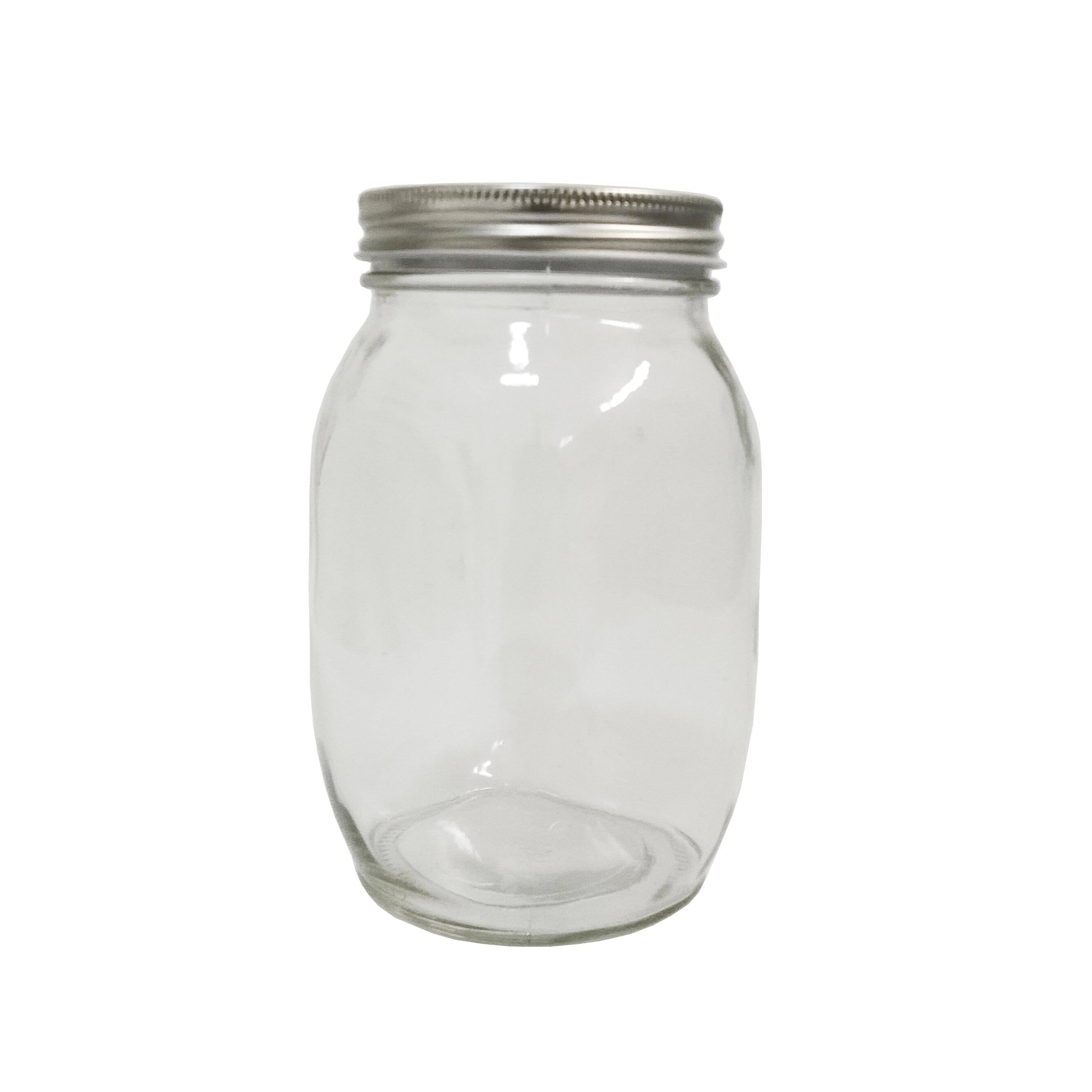 32oz 1000ml 1L Wide Mouth Quart Glass Mason Jars With Hermetic Gold Metal Band Lid