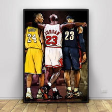 Kobe Bryant Michael LeBron James Basketball Canvas 1 Pcs HD Prints Home Decor Poster Painting Wall Art Picture No Frame