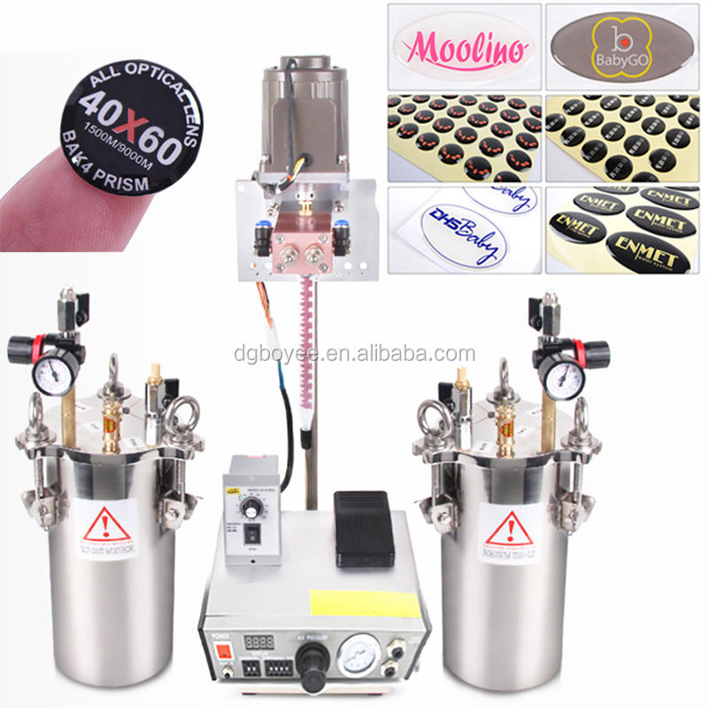 Clear Epoxy Dome Sticker making machine Two component mixer/dispensing machine