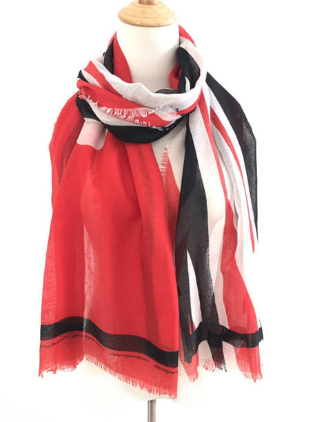 Certificated very soft custom design REPREVE recycled polyester scarf 100% RPET scarf