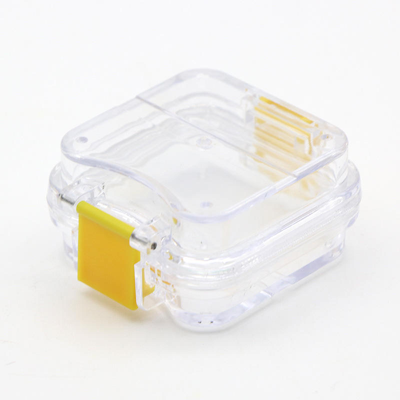 Denture Boxes Transparent Teeth Retainer Case Clear Plastic Dental Membrane Box With Film