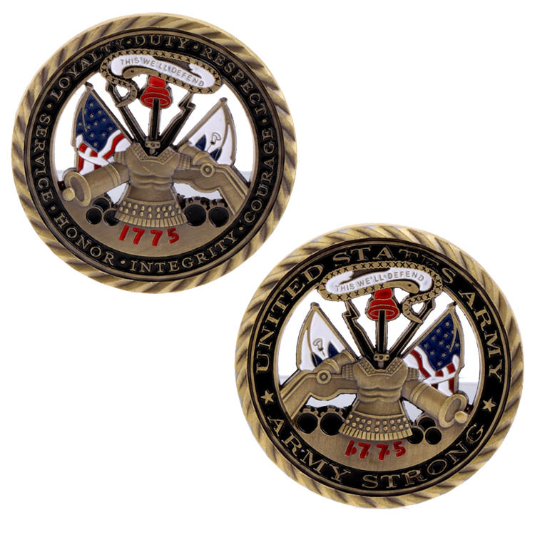 Hot Sale Wholesale High Quality Zinc Alloy Malaysia Airplane Army Souvenir Challenge Coin