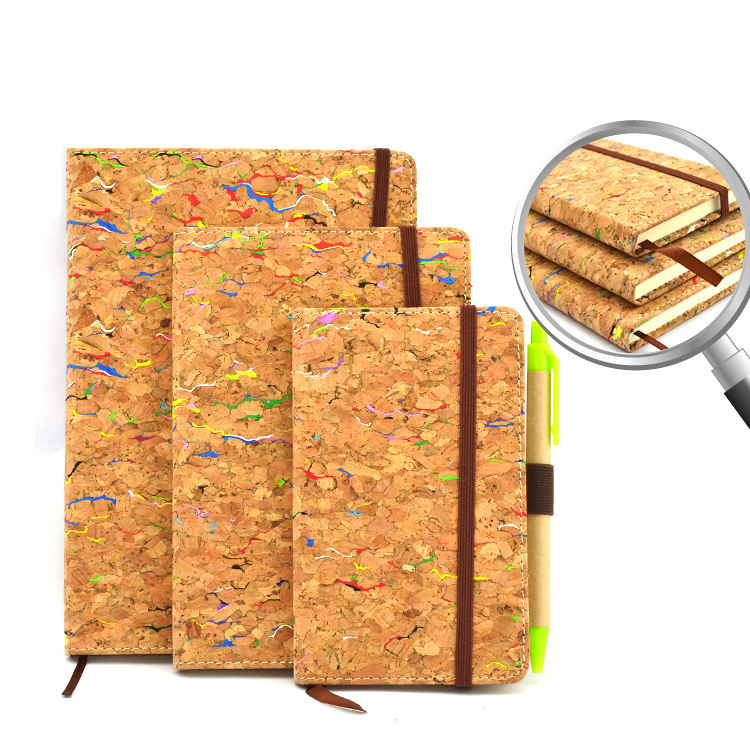 Promotional eco friendly customized cork cover notebook for gift