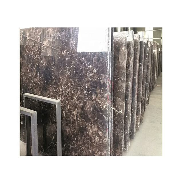 large stock dark emperador marble panel with coffee color