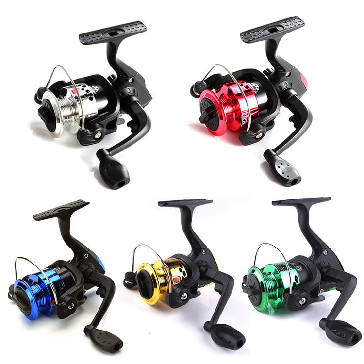Wholesale Mini Metal Plastic Spinning Reel with Line Freshwater Reel Ultralight Ice Fishing Line Wheel