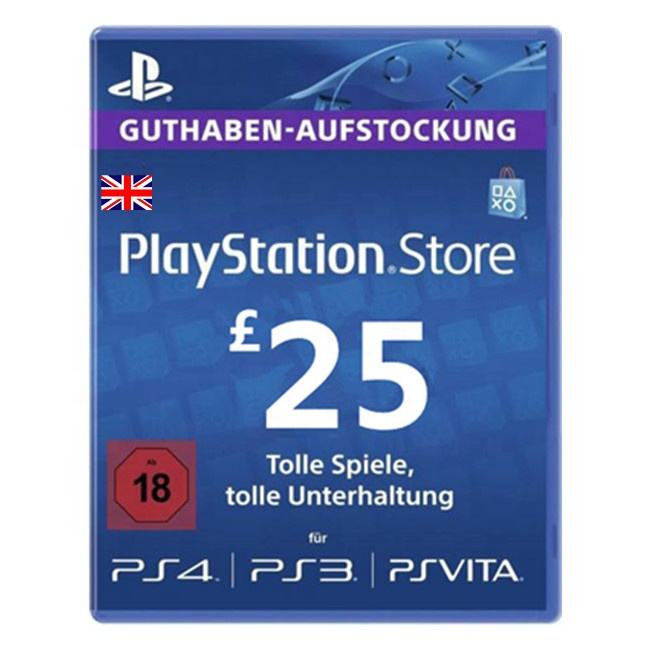 UK Gift Card 25 PSN PlayStation Network
