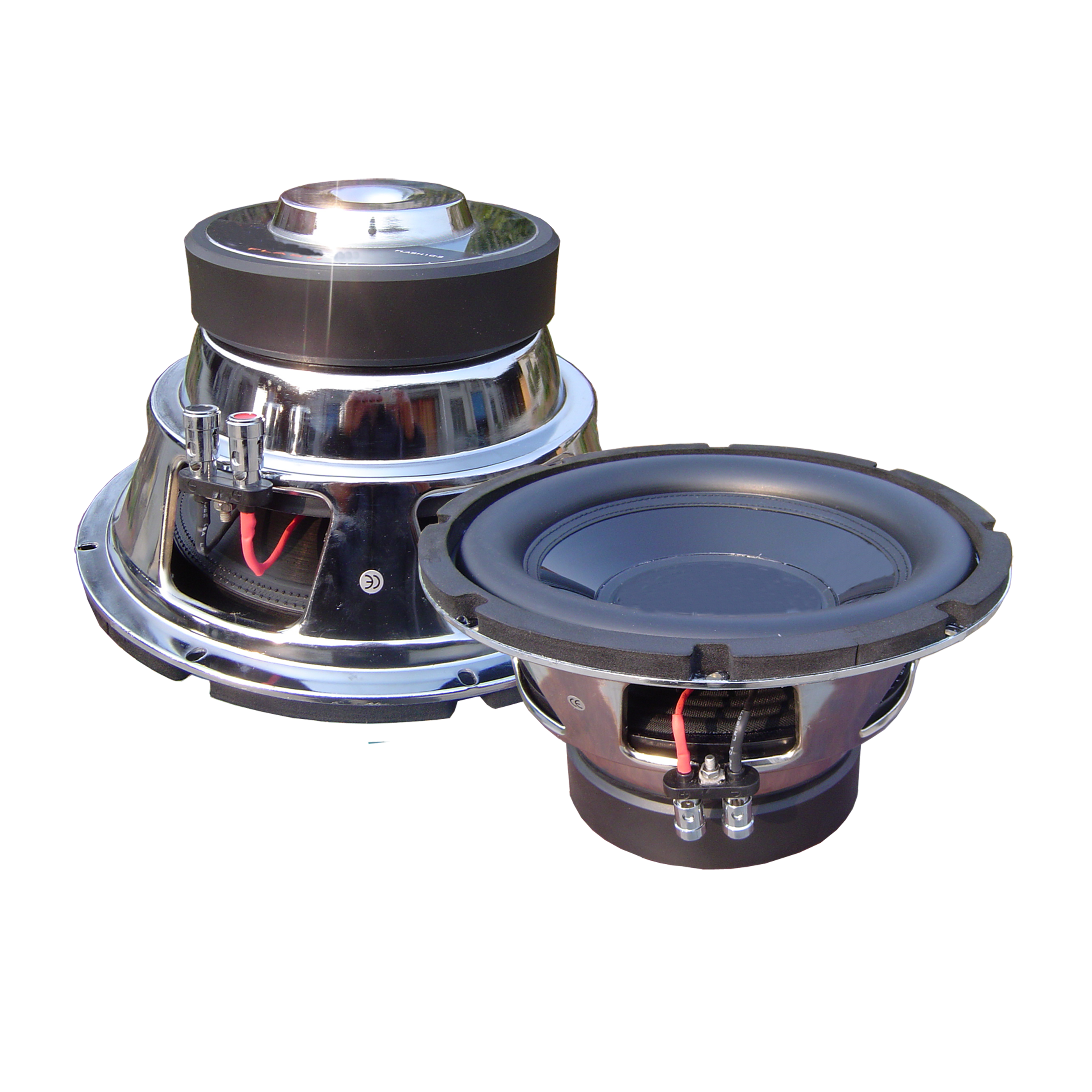 Chrome Finish Keranjang <span class=keywords><strong>Subwoofer</strong></span> <span class=keywords><strong>Subwoofer</strong></span> Pasif Power Auto Speaker Sempurna Woofer 250W RMS 4ohm