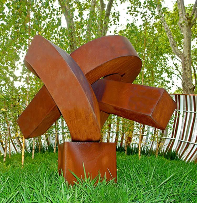 Popular Design garden corten steel sculpture
