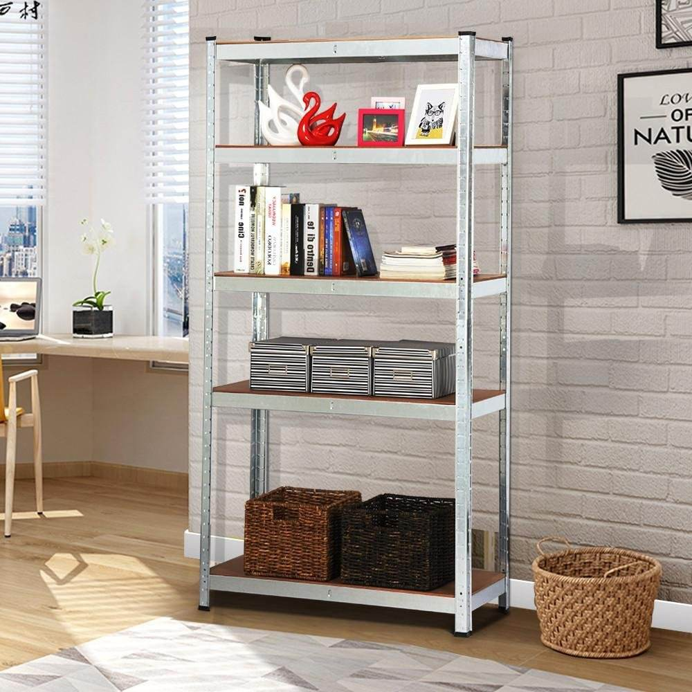 Boltless metal slotted angle iron shelving goods garage storage racking system for supermarket/home/garden