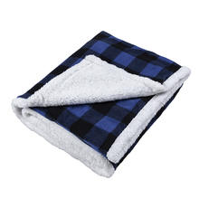 New Design Sherpa Plaid Fleece Throw Blanket, Double-Sided Super Soft Luxurious Bedding Blanket