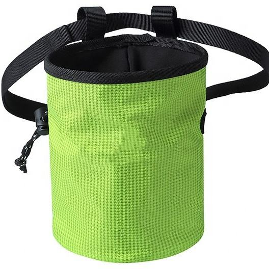 Outdoor Multicolor Waterproof Nylon Drawstring Custom Climbing Chalk Bag With Belt