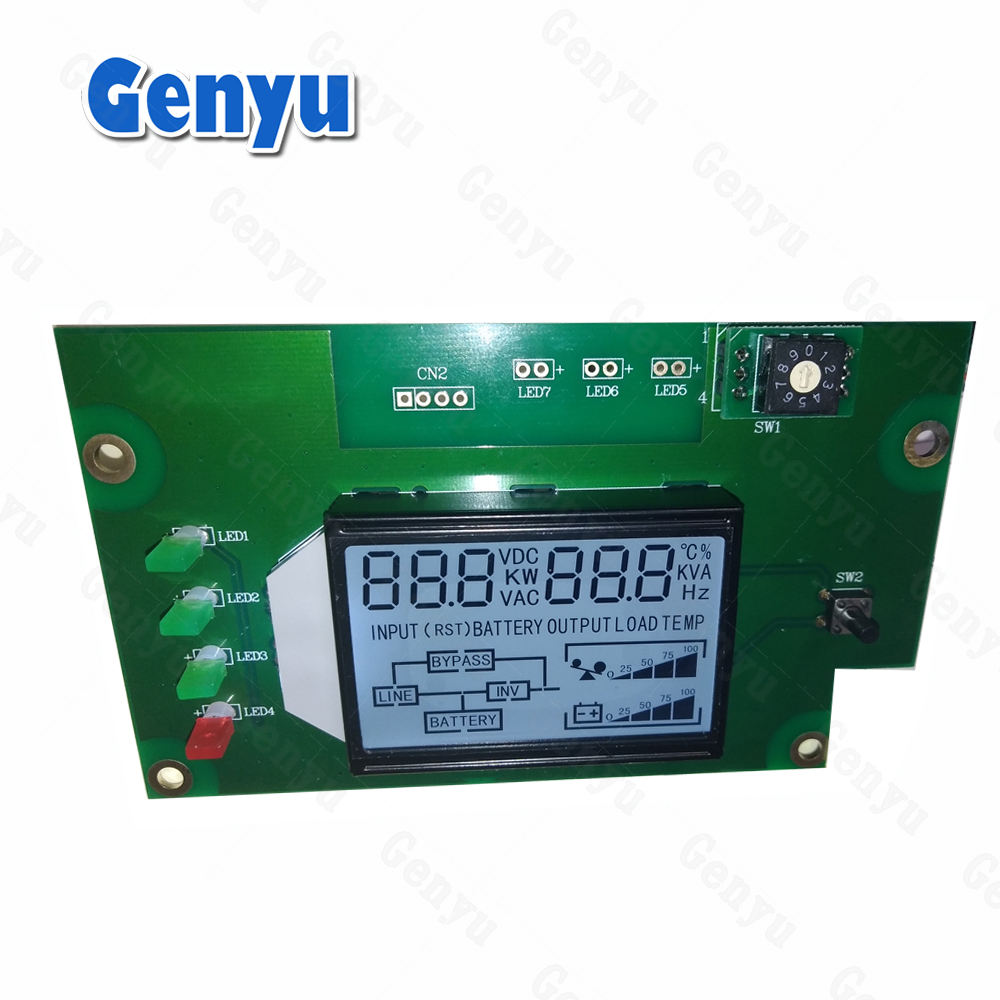 Fabricante OEM COB Personalizado Segmento Display lcd Digital com Tela TN Positivo Para UPS Power display