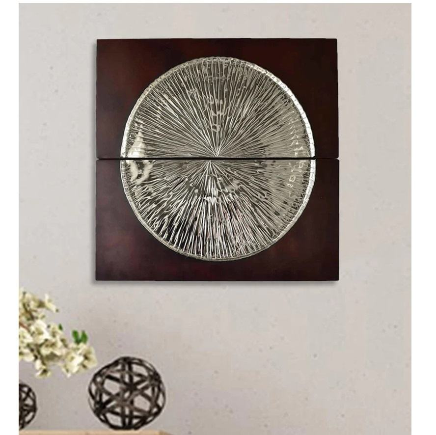 Beautiful Decorative Silver Naomi Disc Metal Wall Art For Home Decor