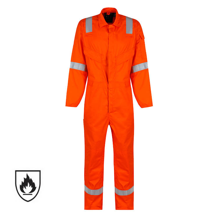 High Quality EN 11612 NFPA 2112 Cotton 88/12 Nomex Fire Proof Industry Safety Protective Clothing