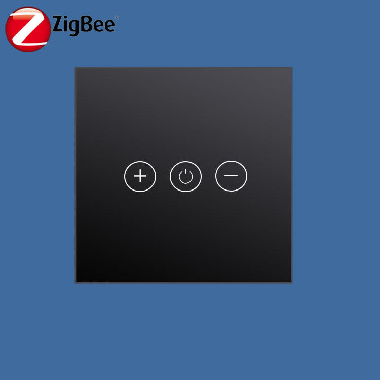 wireless zigbee 30 black glass touch triac 230v dimmer power for led triac dimmable drivers