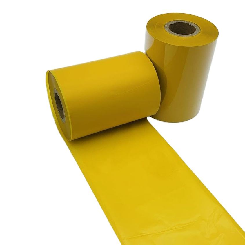 High Quality Custom Wholesale yellow color washable ribbon thermal transfer ribbon for garment