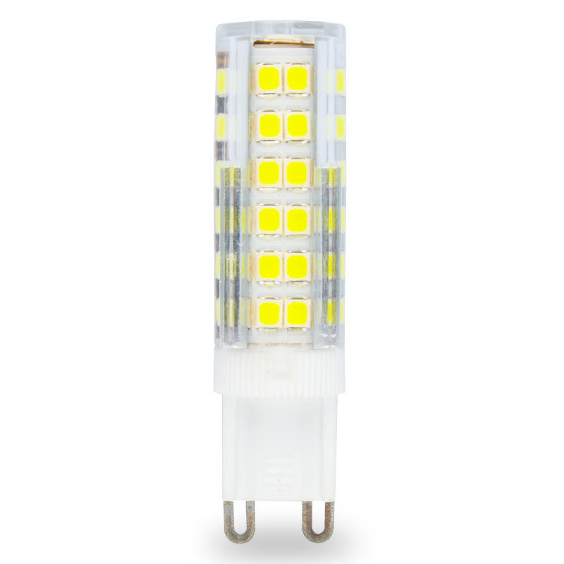 1pcs Ceramic G9 LED Lamp 220V 230V 7W 2835 75SMD High Quality G9 Spotlight Chandelier Corn Bulb 75leds