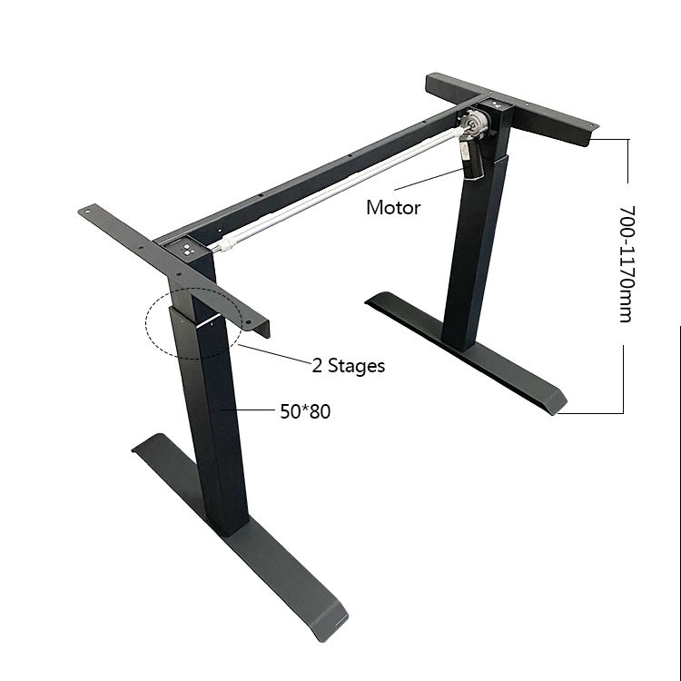 Healthy Office Working Single Motor Adjustable Height Desk Frame Electric Lifting Office Tables