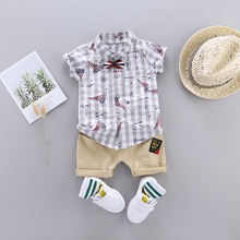 Wholesale   2 year boys summer clothes cotton baby boy clothing sets baju anak