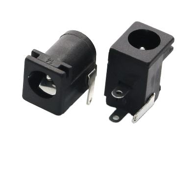 FOXECO female DC power jack socket manufacture 0.5A 30V top quality panel mount jack dc power connector electrical with ROSH