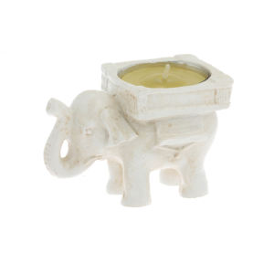 White elephant pattern exquisite packaging candle holder wedding party birthday gift candle holder