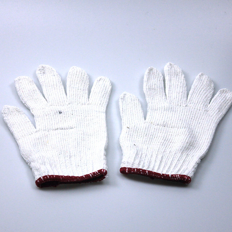 Many Years Factory White Working Gloves Knitted Protective Hand Safety Gloves