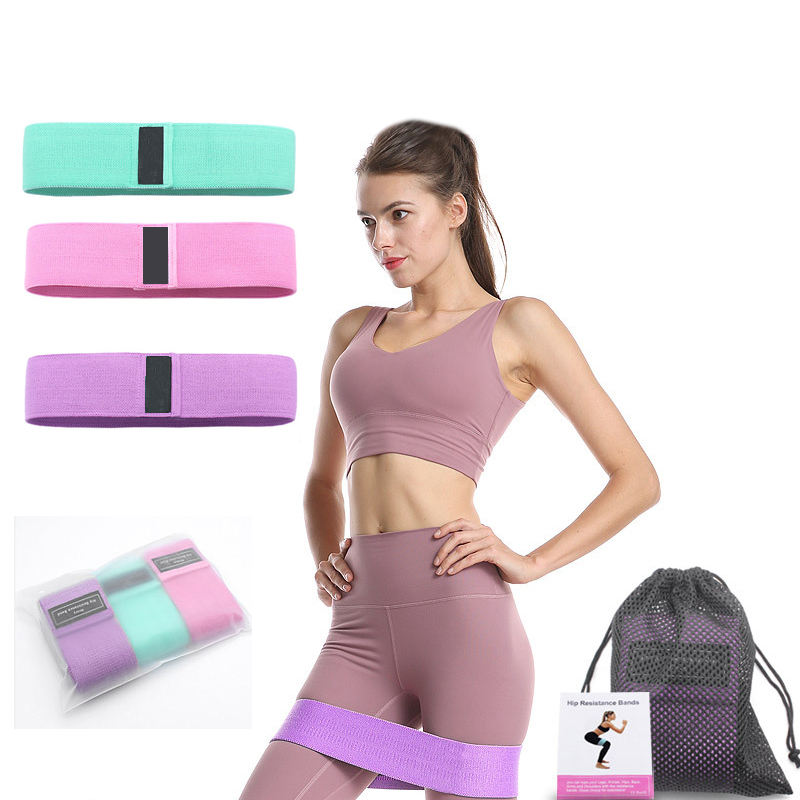 3 In 1 Premium Resistance Bands Set Voor Yoga Squat Booty Activering <span class=keywords><strong>Weerstand</strong></span> Loop Band