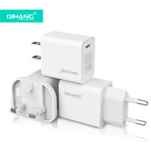 Wall Fast Charging for iPhone US USA Eu UK plug Type C Power Adapter 18W usb c PD charger