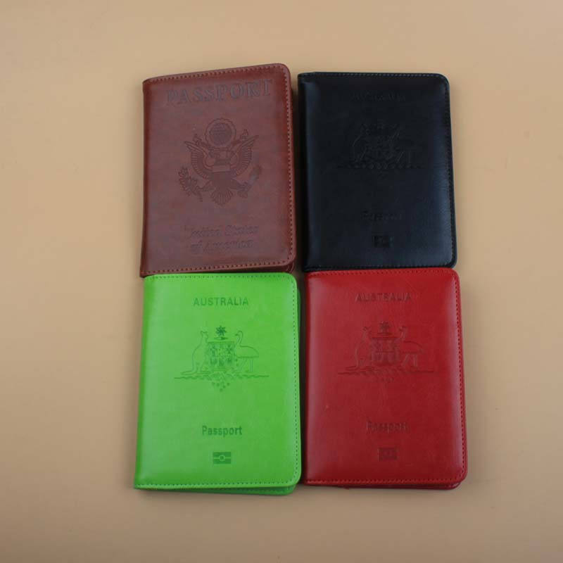 Fashion Travel Leather Passport Cover Rfid Passport Holder Leather