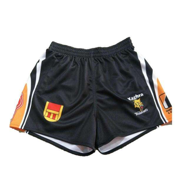 No side pockets Reinforced seams Elasticised waist Professional Style Sublimated Rugby Shorts